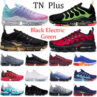 블랙 전기 녹색 TN 플러스 농구 신발 트리플 블랙 메탈릭 골드 고귀한 빨간색 화이트 핑크 바다 여성 운동화 미국 운동화 트레이너