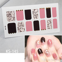 Nice 9 Sheets 14tips Nail Art Polish Stickers Eeo- friendly F...