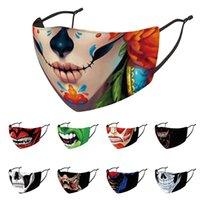 Halloween Face Mask Designer Moda Facenas Pask Pollo a prueba de polvo Haze Haze Lavable Reutilizable Máscaras de fiesta