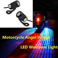 Бесплатная доставка Универсальный Мотоцикл проекционные лампы крылья ангела Мотоцикл модификации частей аксессуары для мотоциклов LED фарой
