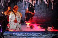Хэллоуин Кровавой Tablecover Scary Horror Bloodstain Крови Handprint Скатерть Halloween Фартук Bloody Party Supplies украшение нового D82804
