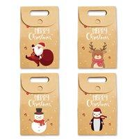 Рождественские подарочные пакеты Xmas Vintage Kraft Paper Candy Case Party мешок подарка сверток украшения благосклонности партии Поставки Морские перевозки LJJP427