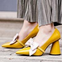 2020 donne di lusso design pompa gli alti tacchi bianchi 8,5 centimetri sexy scarpins Giallo signora Party di promenade di cerimonia Lolita tacchi a spillo Scarpe Sexy