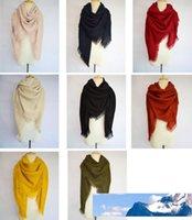 Marque Designer Écharpe d'hiver pour les femmes en cachemire Mode Réchauffez couleur unie douce laine Blanket de gros Dropshippin 68
