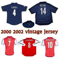 2000 2002 Bergkamp Henry Retro futbol forması 2001 ev uzakta VIEIRA PIRES Keown Ljungberg Wiltord Cole klasik bağbozumu futbol forması