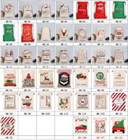 Presente de Natal 39style lona de Santa Sacks sacos de cordão saco com renas presentes Saco de Papai Noel Bolsa Xmas Decorações de Natal GGA3627-2
