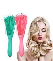 Massage du cuir chevelu Peigne Brosse Démêlant Tangle Suppression Peigne puissante fonction antidérapante Design For Curling Cheveux longs ondulés lxj135