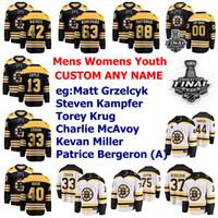 Final de la Copa Stanley Boston Bruins jerseys Juvenil Kids Danton Heinen Jersey Lindholm Kuraly Kuhlman Krejci de hockey sobre hielo de los jerseys Personalizar cosido