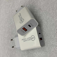 18W شاحن USB سريع نوع سريع شحن C PD شحن سريع لشاحن iPhone Eu Us Us Us USB مع شاحن هاتف QC 4.0 3.0 مع المربع