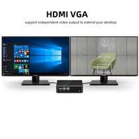 Freeshipping Mini PC Computer Intel Core I7 7500U I5 7200U I3 7100U DDR3L MSATA 4K UHD HD-MVGA WiFi Gigabit Ethernet6 * USB Windows 10 Linux