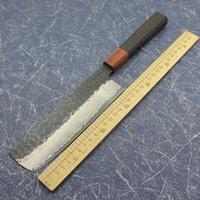 Kleines Küchenmesser VG10 Damaskus geschmiedetem Stahl Massivholz Griff Kochmesser scharf Fleischerbeil Scheibe Steakmesser