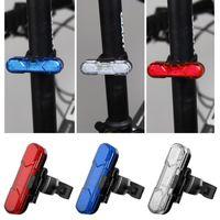 USB Şarj edilebilir LED Bisiklet Işık Su geçirmez Bisiklet Seatpost Arka Kuyruk Işık Güvenliği Uyarısı