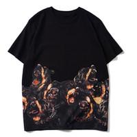 Mens Dog-Druck-T-Shirt Männer-Frauen arbeiten Hip Hop Rundhals Kurzarm Hoch QualityCouples Cotton T-Shirt T-Stücke