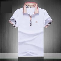 SS20 nouveaux créateurs de mode tag vêtements hommes tissu lettre polo tshirt turn-down col occasionnels femmes tshirt marques T-shirt tops 3G * 02