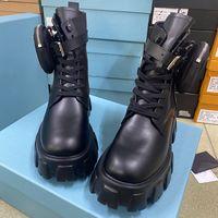 Hochwertige Australien Frauen Booties gebürstet Rois Stiefel Keulenleder Nylon Martin Stiefel mit Abnehmbarer Beutel Schwarz Damen Outdoor Schuhe