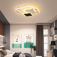 Çocuk odası Yatak Kindergarten Anaokulu Çocuk Beyaz Bulut Modern Tavan Dim Işıklandırma için Led avize Lambası