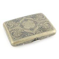 Bronze Vintage Metall Zigarettenkasten Halter Muster 16 stücke Röhre Zigarre Retro Tasche Fall Rauchen Zubehör Männer Geschenk