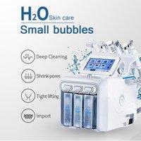Novo 6 em 1 Máquina Hydrafacial Hydro Dermaabrasão Facial Peeling Ultrasonic Skin Scrubber Oxigênio Spray Cuidados com a pele Microdermoabrasão