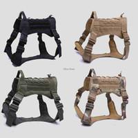 Tactical Dog MOLLE Vest com alça de Treinamento de Trabalho Caça Pet Vest Combate serviço do exército Dog Harness
