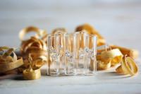 الأكثر شعبية نصائح مصغرة تصفية الزجاج سميكة أنابيب التدخين بيركس زجاج مسطح الفم أو الفم المستديرة للأعشاب الجافة التبغ RAW أوراق