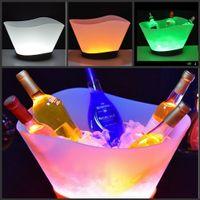 12L LED القابلة لإعادة الشحن دلاء الثلج تغيير لون النبيذ ويسكي تبريد قارب على شكل الشمبانيا البيرة حامل بار / الرئيسية / عرس / ليلة ديكور حزب