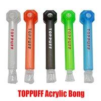New TOPPUFF Top Puff Bang acrylique Portable à visser en verre pipe à eau Shisha Chicha tabac à fumer Porte-Herb instantanée Vis Hookah
