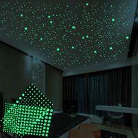 3D فقاعة مضيئة نجوم النقاط الجدار ملصق غرفة نوم الاطفال ديكور المنزل صائق يتوهج في الظلام ملصقات DIY جديدة
