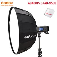 Lampeggia GODOX AD400 Pro Witstro All-in-One Flashgodox AD-S85S 85cm White Parabolico profondo softbox con griglia a nido d'ape