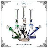 7mm dickes Glas Becherbang ein geteiltes und duales Stil Glasraucher Wasserpfeife Bauen Sie einen Bubbler Bong-Hefthukasglas-Großhandel