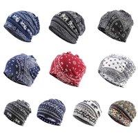 Unisex Multifunktions-Beanie Skullies Hut Ethnic Paisley Digital Print Slouchy Turban Kopfbedeckung Chemo Cap Infinity-Schal