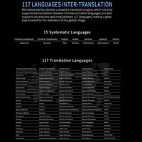 Freeshipping 3.0 di Smart Voice Translator Offline 117 lingua simultanea penna Traduzione Artefatto Voice Business Travel Abroad
