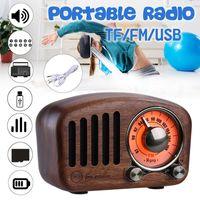 2019 sólido popular de madera Retro Mini Altavoz Bluetooth 4.2 FM receptor de radio portátil de bolsillo de edad radyo ancianos portatil Caixa de som bocina