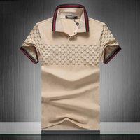 2020 Летняя марка одежды Роскошные дизайнерские рубашки поло мужчин Повседневный Поло Мода Змея Bee печати Вышивка T Shirt High Street Mens Polos