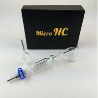 Micro NC 10 millimetri Kit di raccolta congiunta di vetro Nector Dab paglia Nector collezionisti con il titanio Nail Mini Cera Dab Rigs NC01
