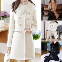 Winter-Frauen Warm Outwear Wolle Revers Trench Parka-Mantel-Jacken-Mantel StylsihWi Fashion Jacke Fashion Women LS 1203