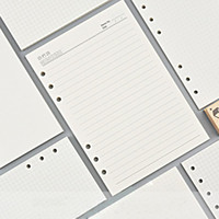 مجلة جدول الأعمال Plannner دفتر A5 A6 إدراج عبوات 6 ثقوب فضفاضة ورقة دوامة حلقة الموثق مذكرات مخطط ورقة الداخلية الأساسية 100 جرام
