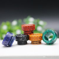 810 510 Resin Drip Tip Snake Skin Honeycomb Mouthpiece Dripping Wire Bore Tips Such Tip For TFV12 Prince TFV8 X Big Baby