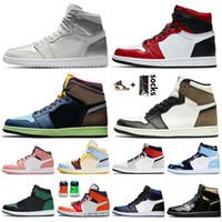 Nike Air Jordan 1 Retro 1s Jumpman 1 tênis de basquete 1s Tokyo prata 1 High OG Bio Corte escuro Mocha Mulheres Homens SatinJordâniaRetro FEARLESS formadores sneakers
