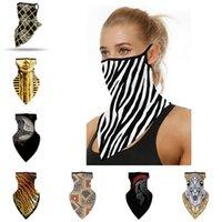 Fashion Unisex Face Mask Maschera da ciclismo Sciarpa Digitale Stampa sportiva Bandanas Anti-UV Anti-UV Maschere Anti-UV Maschere Triangle Sciarpe Donne Donne Neocche