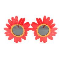 2020 إطار جديد رائع الكبير عباد الشمس تصميم النظارات الشمسية الاطفال كاملة من البلاستيك الألوان لطيف لعبة نظارات بالجملة
