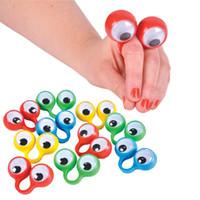 Глазные марионетки пальцев пластиковые кольца с Wiggle глазами игрушка удобные для детей ассорти цветов подарочные игрушки пината наполнители