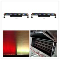 4pcs with flightcase IP65 Wall dyeing single point control wall washer waterproof 18x18w rgbwa uv 6in1 led liner long wall washer bar light
