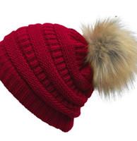 المرأة الجديدة أزياء محبوك كاب الخريف الشتاء الدافئة قبعة skullies العلامة التجارية بيني الهيب هوب الصوف pompom القبعات شحن dhl شحنة لطلب 12 قطع