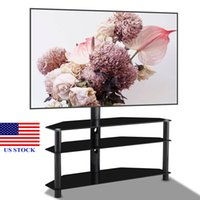 TV Mount Bracket Mobile Stand Floor Multi- Function Tempered ...