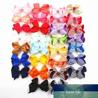 Baby Stripe Bow Hairpins 3 Inch Girls Mini Designer Bowknot ...