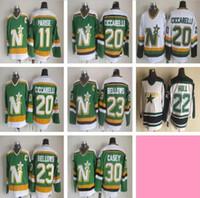 Vintage Minnesota Kuzey Yıldız 20 Dino Ciccarelli 11 JP PARISE 23 Brian Körükler 30 Casey 22 Hull Hokeyi Formalar