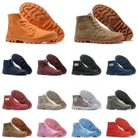 Neue Palladium Pallabrouse Männer Frauen Stiefel Halb Mens Stiefel Leinwand Sneakers Casual Shoe Man Anti-Rutsch Schuhe 36-45