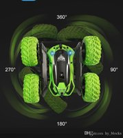 RC Stunt Car 2.4G 4WD Drift Rock Crawler Roll Car Rotating Filp Vehicle Models Remote Control Toys For Children Boys Gift 03