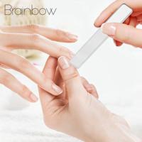 Brainbow 1PC nano profesional Lima de Cristal de 9 cm de uñas transparente Lijado Pulido Rectificado la manicura del arte Herramientas
