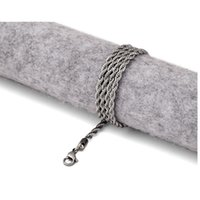 Anhänger Halsketten Hip Hop Neckla Schmuck Mode Seilkette Hohe Qualität 24 Zündete 60 cm Edelstahl Twist Halskette für Männer Geschenk